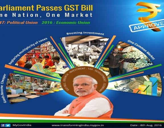 Narendra Modi Lock Sabha GST Bill 1