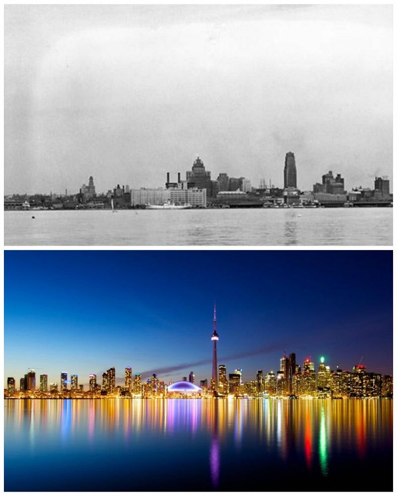 toronto-canada-1940-vs-now