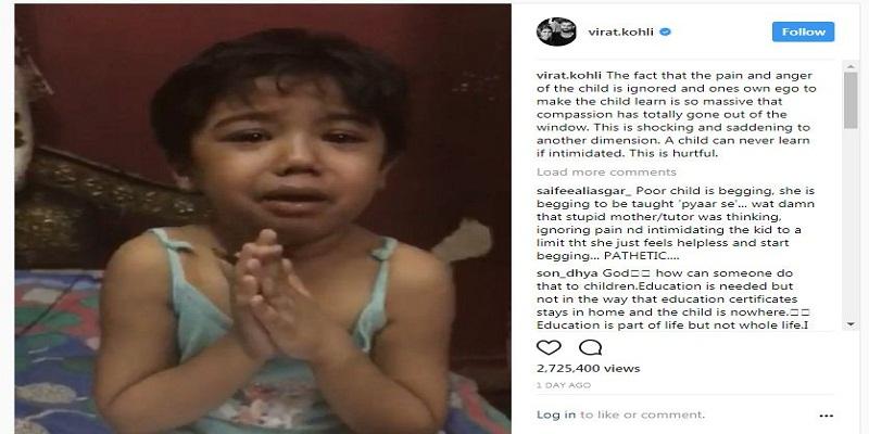 Virat Kohli Shares Disturbing Clip allstory